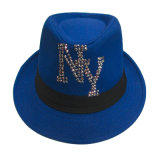 Cheap Promotion Polyester Fabric Fedora Hats with Sequins Design