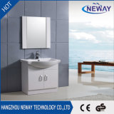 Simple Floor Mounted PVC Corner Mirror Cabinet Bathroom