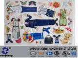 Custom Full Color Water Resistant Removable Carton Magnetic Toy Stickers