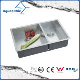 China Hot Sale Stainless Steel Man-Made Kitchen Sink (ACS3119A2)