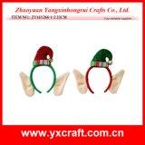 Christmas Decoration (ZY16Y266-1-2 23CM) Cute Christmas Dog Headband Christmas Ornament Set