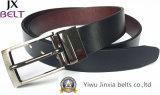 Man's Black Reversible Split Leather Belt