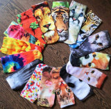 Factory 3D Animal Printed Sublimation Printing Cartoon Custom Boat Socks