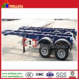 Two Axles 20FT Container Skeletal Trailer Frame