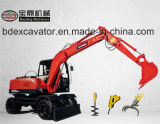 Baoding Wheel Excavators with Grab, Rotary Drill, Breaking Hammer