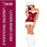 Christmas Santa Mini Dress Costume (L7073)