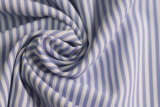 Skyblue/White Classical Stripe Plain Polyester Cotton Shirt Fabric