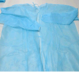 Medical Disposable Re-Use Protective Lab Coat Gowns Blue 10/Bag