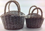 Hot Sale Customized Decorative Willow Flowerpot Holders with Plastic Liner