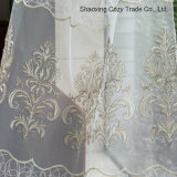 Fashion Design Golden Rope Embroidery Style on Voile