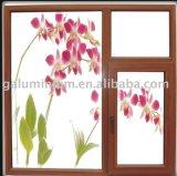 Wood-Clad Alu-Wood Powdercoat Colorful Aluminium Glass Windows and Doors, Lm58 Series Casement Window