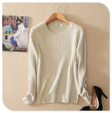 Pure Cashmere Sweater Women New Design Knitted Pullover Solid Color with Long Sleeve O Neck