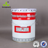 5 Gallon Metal Bucket Tinplate 20 Liter Pail for Chemical Glue with Flower Sealed Lid and Spout