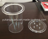 Large Size Clear Quartz Crucible Tube with Lid