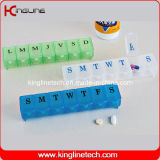 Plastic Pill Box with 7-Cases (KL-9012)