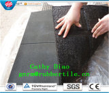 Supply Interlocking Wearing-Resistant Square Outdoor Rubber Tile Sports Rubber Flooring Tile Playground Rubber Tiles