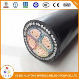 0.6/1kv 4 Core PVC Insualted and Sheathed Armoured Copper Electric Cable / Power Cable