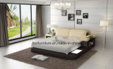 Andrea Ottman King Size Faux Leather Bed