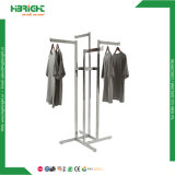 Commercial Stainless Steel 4 Arms Display Rack Clothing Garment Rack