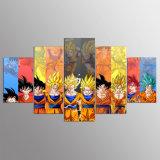 5 Pieces Cartoon Dragon Ball Z Goku Evolution Modern Home Wall Decor Canvas Picture Art HD Print Painting on Canvas Artworks Kn-05