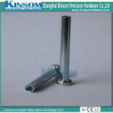 Knurled Steel Semi Hollow Rivet Blue White Zinc Coating L90