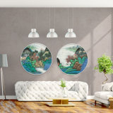 2017 Round Stretched Canvas Custom Landscape Prints with Strong Color