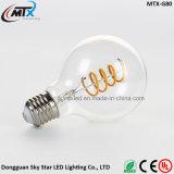 ST64 G80 G125 Flexible LED Spiral Curved Soft Filament Bulb