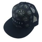 Custom Black Polyester Mesh Printing Trucker Cap Hat