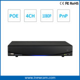 H. 264 4CH 1080P Poe Remote Monitoring NVR with Alarm and Audio