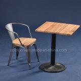 Square Vintage Metal Cafe Restaurant Furniture Set (SP-CT677)