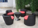Mtc-128 Outdoor Garden Sofa Set / Bullet Rattan Coffee Set Furniture