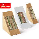 Logo Printed Clear Window Paper Sandwich Container