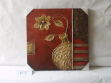 Golden Vase Restoring Ancient Designed Adornment Family Cafe Canvas Painting