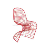 Disdinctive Elegant S Shaped Red Wire Chair for Hotel Restaurant (SP-MC009)