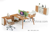 Fashion Office Partition Workstation with Wooden Leg (YF-3024)