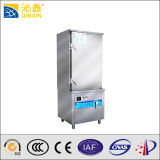 2017 New Stype Single Door 12kw Restaurant Rice and Food Induction Steamer with 12 Trays