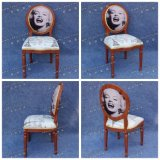 Antique Walnut Color Imitation Wood Louis Xv Style Chair in Europe and USA (YC-A84)