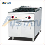 Gh989 Gas Lava Rock Grill with Cabinet of Catering Equipment