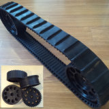 Small Rubber Track for Robot, 80mm Width, 2400mm Length