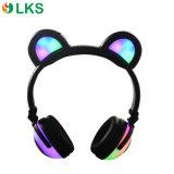Wireless Chargable Battery Glowing Lights Panda Ears Headphone