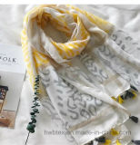 New Customized Zebra Ink Printing Thin Lady′s Cotton Scarf (HWBC32)