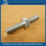 CNC Machined Hex Drive Double Threaded Bolt