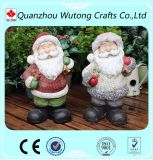 Christmas Outdoor Decoration Standing Resin Santa Claus Figurines