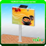 Solar Power Customized Outdoor Advertising Double-Side Billboard