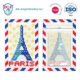 Mosaic Luggage Tag/ ID Card Holder- I Love Paris