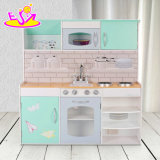 Pretend Play Dollhouse & Kitchen Wooden Kids Playsets with Double-Side W10c325
