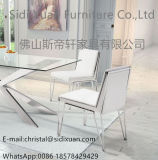 New Modern Hot Fashion Stainless Steel PU Cover Luxury Dining Chair
