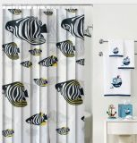 PEVA/PVC Waterproof Shower Curtain with Hooks