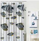 PEVA/PVC Waterproof Shower Curtain with Hooks