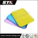 Rectangle Candy Color Tray, Plastic Tray, Fruit Tray, Food Tray, Flat Plate, Slip-Proof